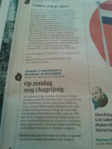 Gordon in Holland's got Talent en Volkskrant